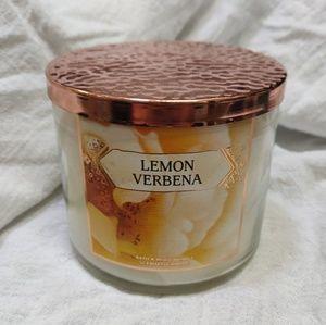 Bath and Body Works Lemon Verbena 3 Wick Candle